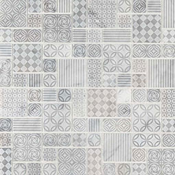 Tetris Blanco Backsplash Tile encaustic tile pattern