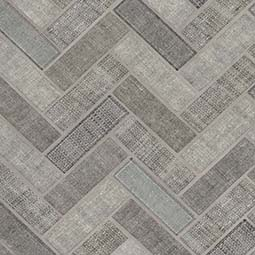Textalia Herringbone 6mm Glass Mosaic Tile