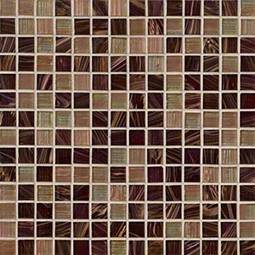 Treasure Trail 3/4x3/4x4mm Iridescent Glass in 12x12 Mesh  Backsplash Tile