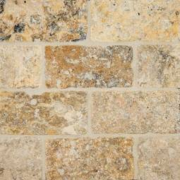 Tumbled Tuscany Scabas Subway Tile 3x6