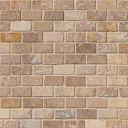 Tuscany Scabas 1x2 Tumbled in 12x12 Mesh