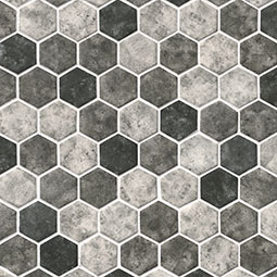 Urban Tapestry Hexagon 6mm  Glass Mosaic Tile