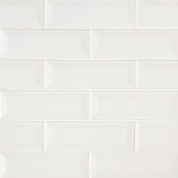 Whisper White Subway Tile 2x6 Beveled