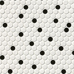 White and Black Glossy Pennyround Product Page