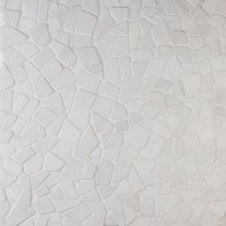 White Flat Pebbles Meshed 16x16