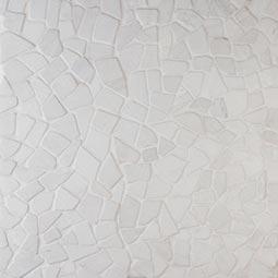 White Flat Pebbles Meshed 16x16