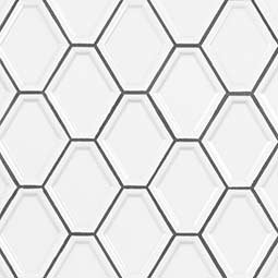 WHITE GLOSSY DIAMOND POSITIVE SHAPE