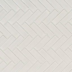 Retro Herringbone Bianco 6mm Glossy