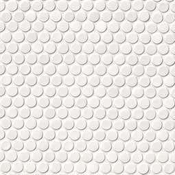 White Glossy Penny Round Mosaic - White Tile Product Page