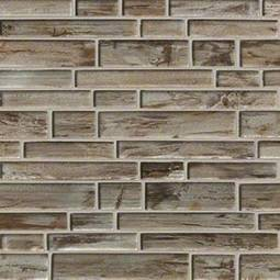 Zirconia Interlocking Pattern 8mm Glass Backsplash Tile