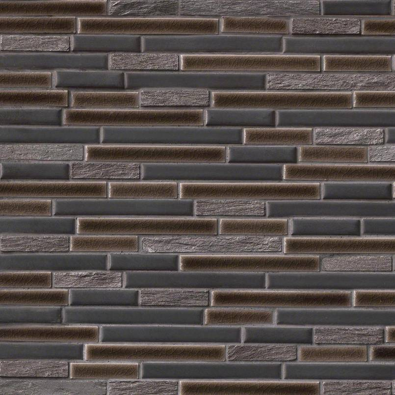 Titan Interlocking Pattern 8mm Decorative Mosaic Tile