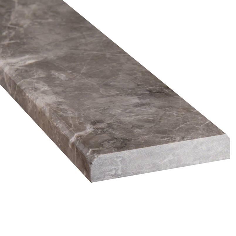 Tundra Gray 4x36x0.75 Double Beveled Threshold Polished