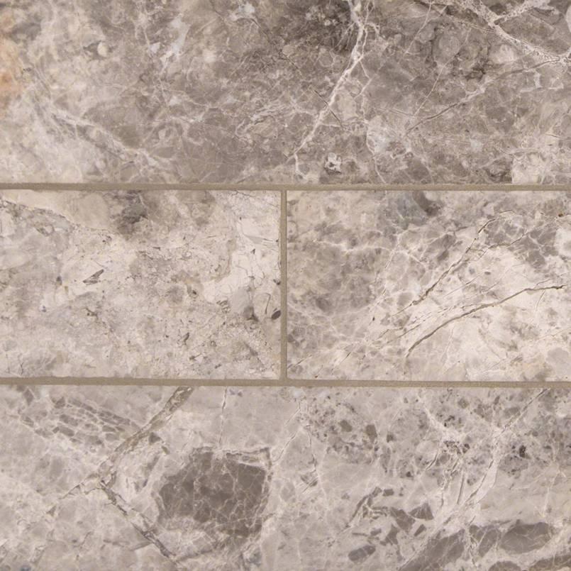 Tundra Gray Marble Subway Tile 4x12