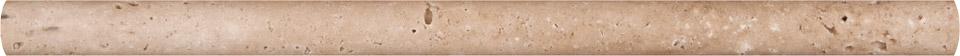 Tuscany Walnut 3/4x3/4x12 Honed Pencil Molding
