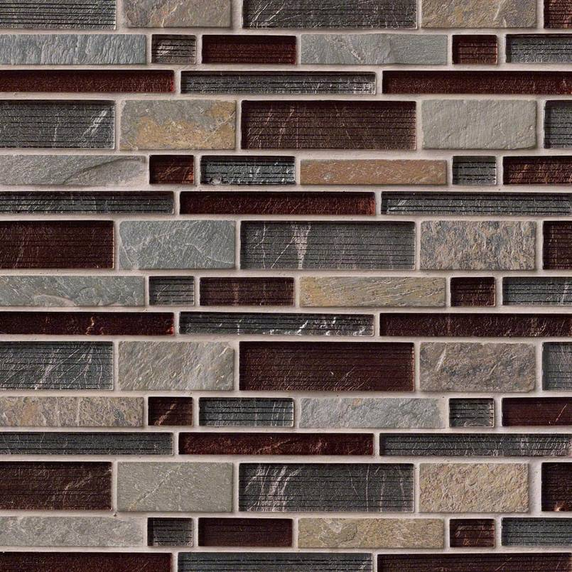 Urbano Blend Interlocking Pattern 8mm Decorative Mosaic Tile