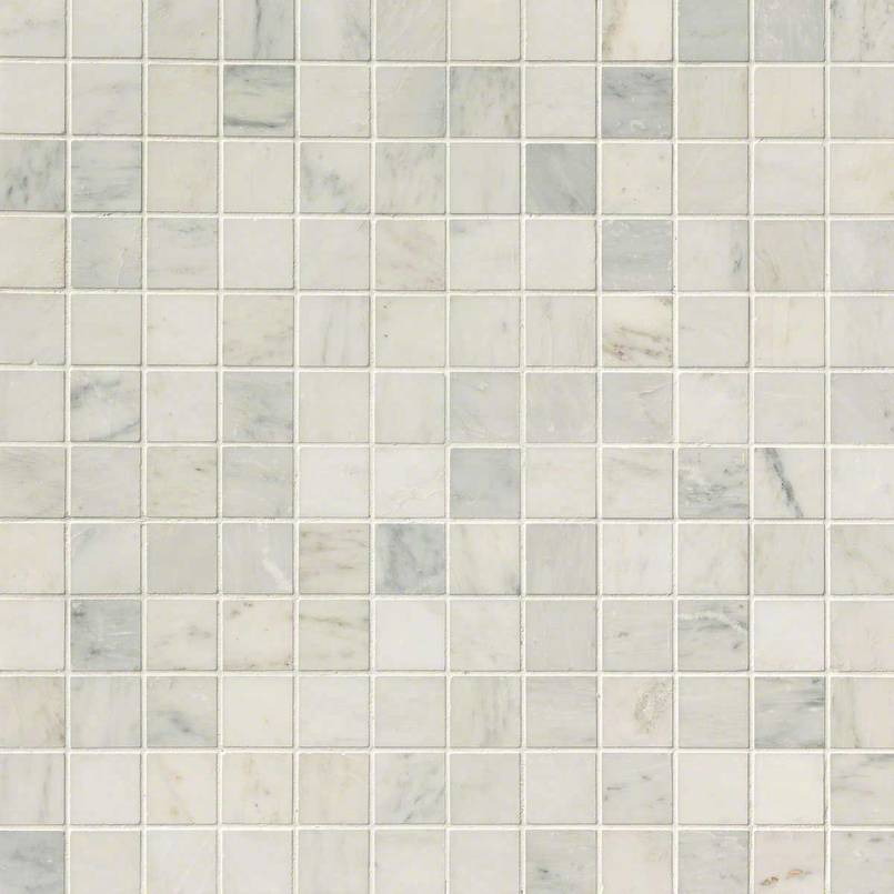 Arabescato Carrara 2x2 Honed in 12x12 Mesh