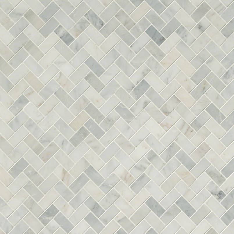 Herringbone Backsplash Tile Arabescato Carrara