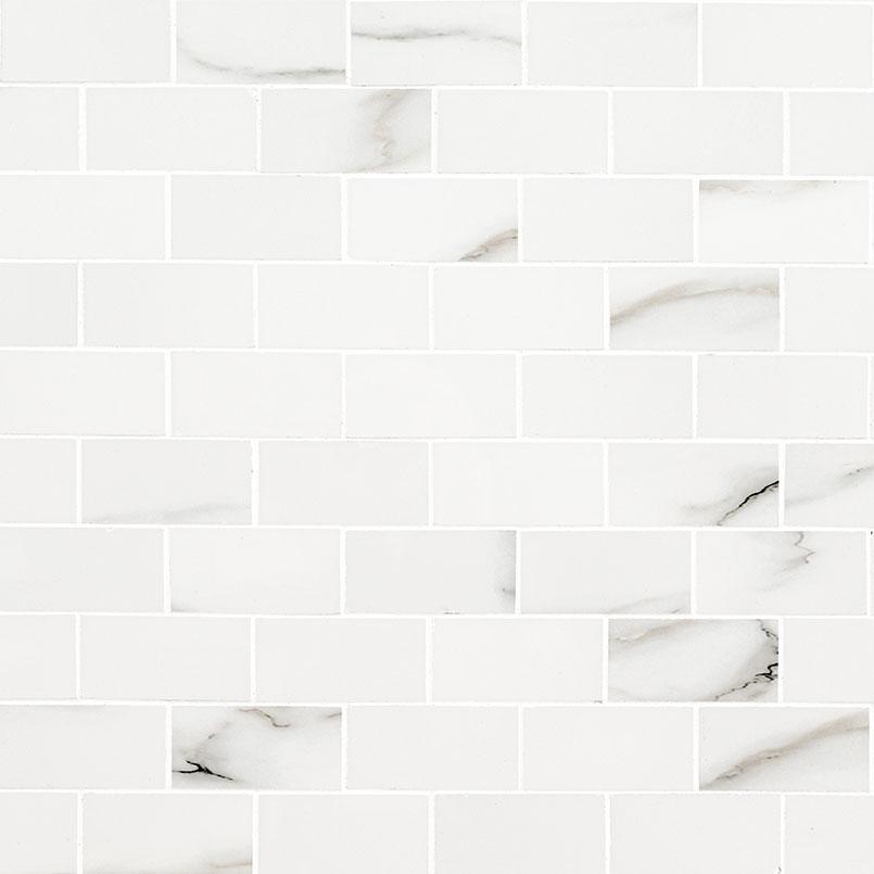 Aria Bianco 2X4 Mosaic Polished