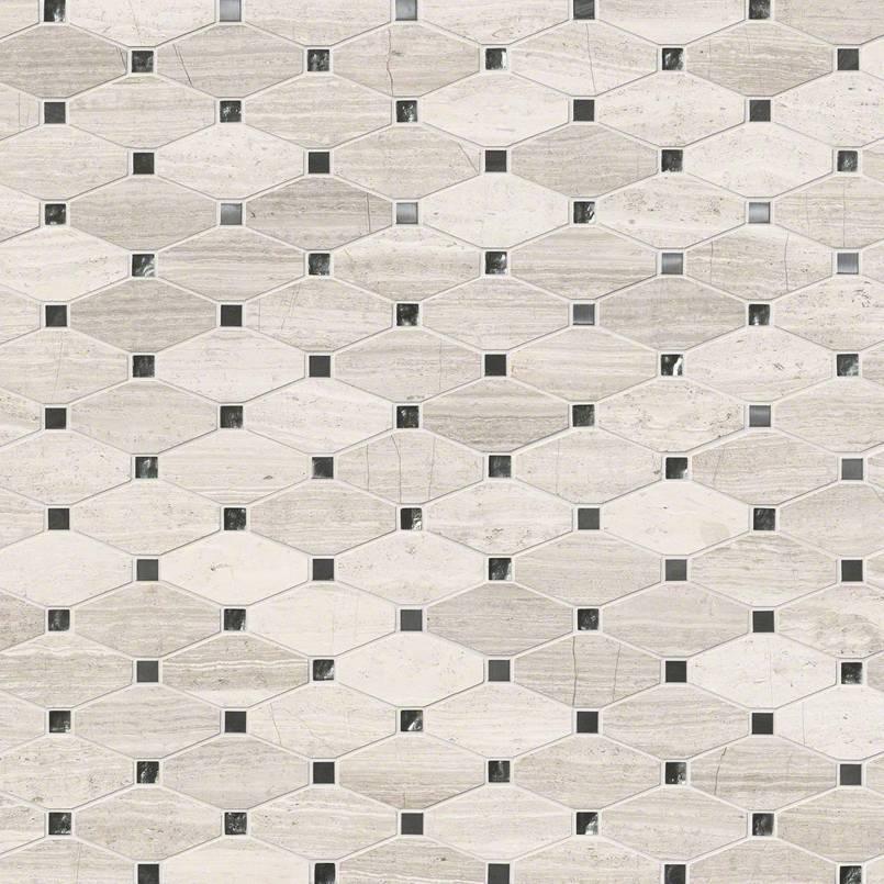 Bayview Elongated Octagon 10 Mm Backsplash Wall Tile
