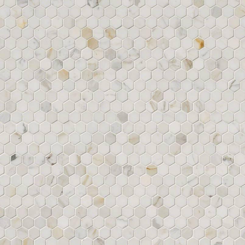 "Calacatta Gold 1"" Hexagon Polished"