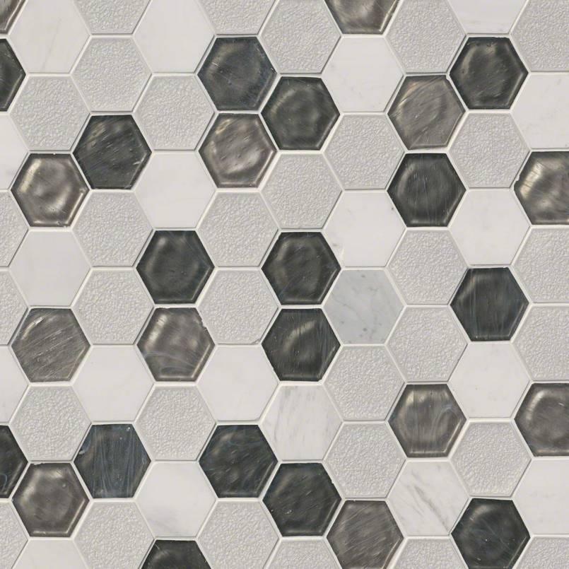 "Circa Zirconia 3"" Hexagon Pattern 8mm"