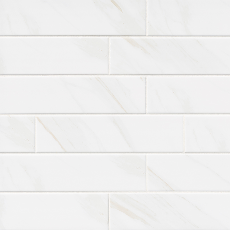 Classique White Calacatta Glossy 4X16 Bln