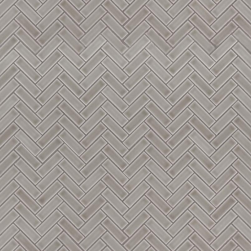 Dove Gray Herringbone Pattern 8mm