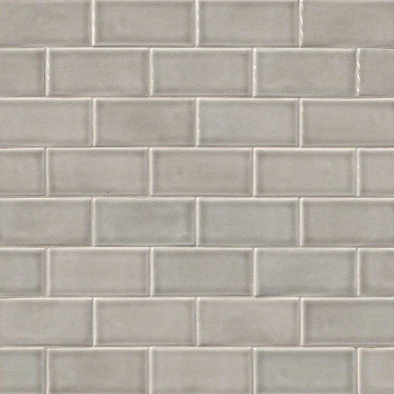 Sample White Gray Random Subway Glass Mosaic Tile Kitchen: Dove Gray Subway Tile 3x6
