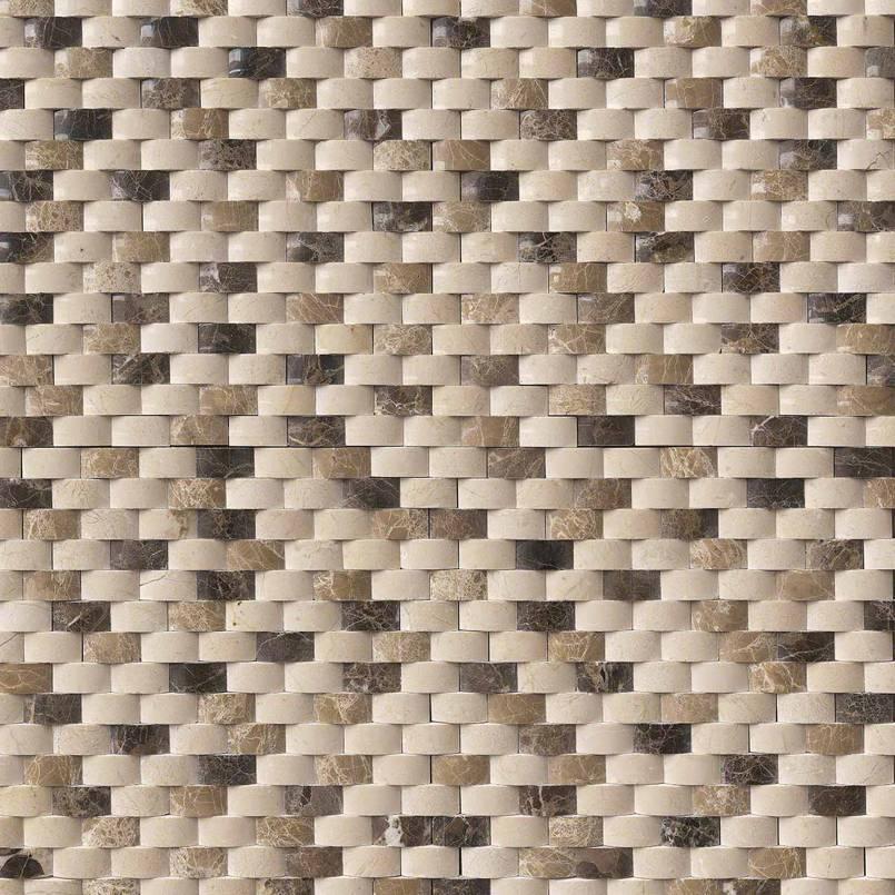 Emperador Blend Arched Brick Pattern