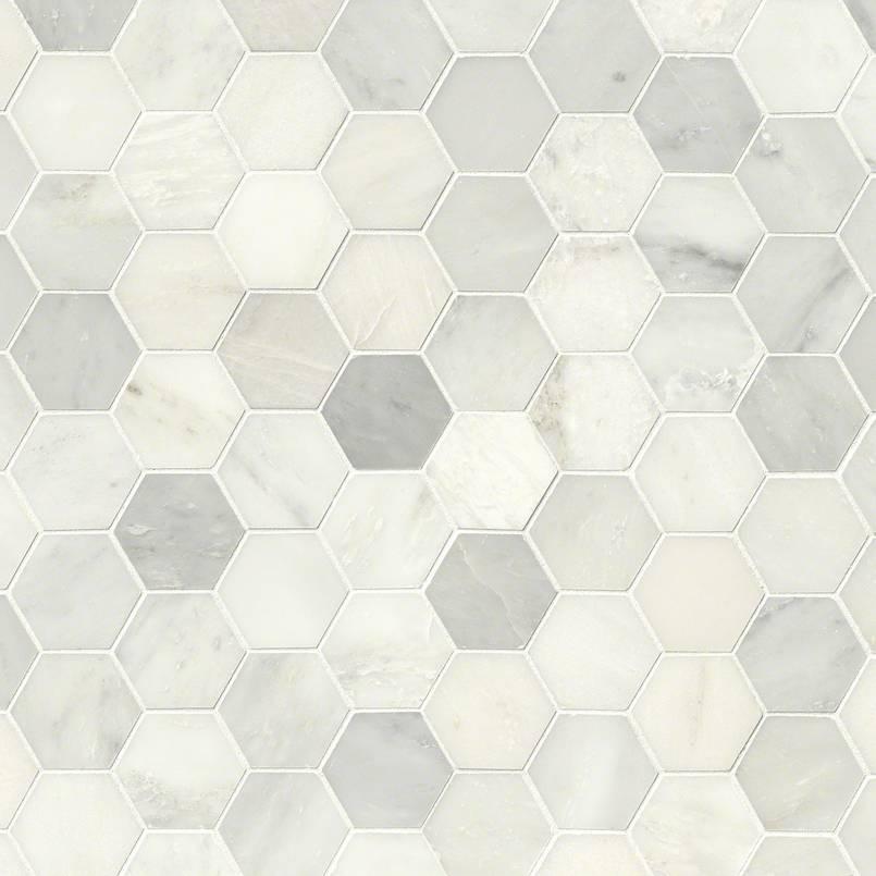"Greecian White 3"" Hexagon Polished"