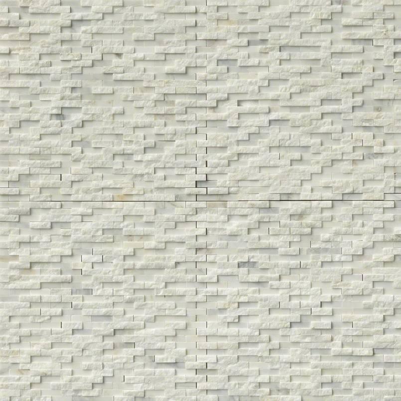 Greecian White Splitface Interlocking Pattern