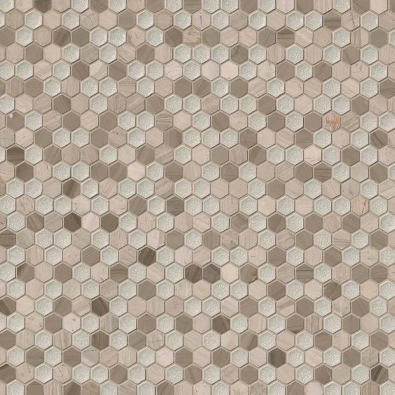 """Hexham Blend 1"""" Hexagon 8mm"""