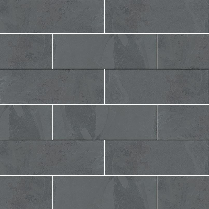 Montauk Black Subway Tile 4x12