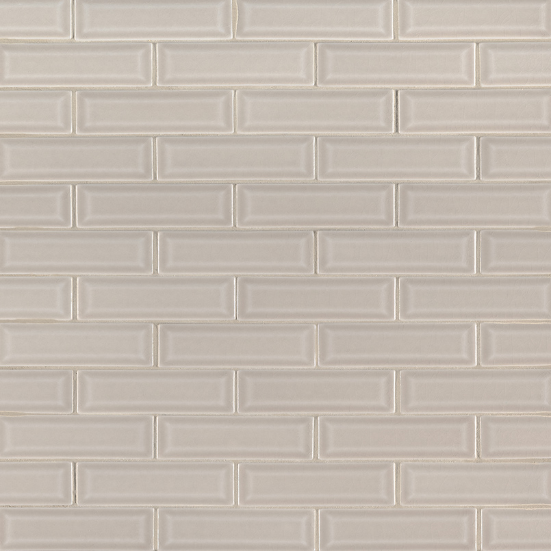 Portico Pearl 2x6 Beveled Backsplash Tile