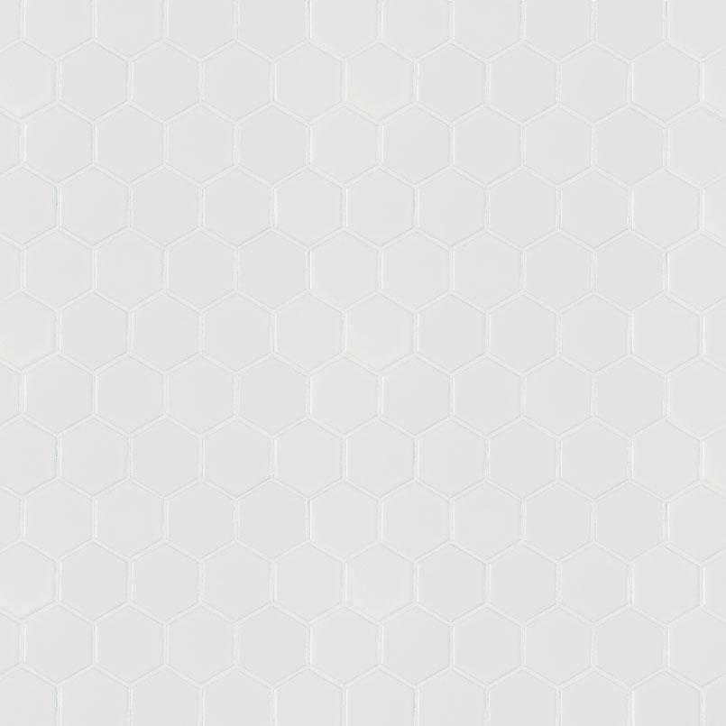 White Matte 2x2 Hexagonacksplash Tile White Tile