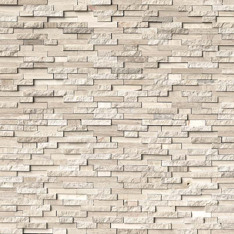 White Quarry Splitface Interlocking Pattern