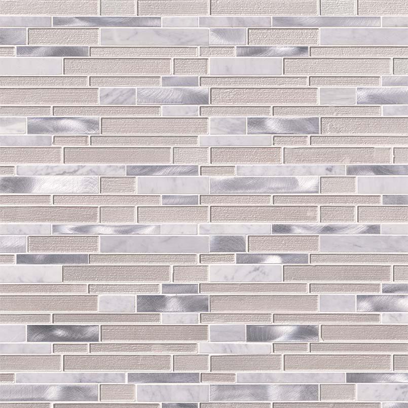 White Wave Interlocking Pattern 4mm