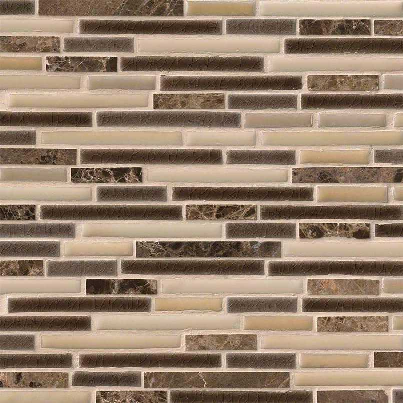 Verona Interlocking Pattern 8mm Decorative Mosaic Tile