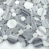Alaska Gray Pebble Polished 10mm
