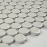 Almond Glossy Penny Round Mosaic