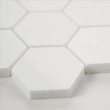 "Bianco Dolomite 2"" Hexagon Polished"