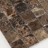 Emperador Dark 2x2 Polished in 12x12 Mesh