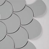 Gray Glossy Fish Scale Mosaic