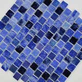 Hawaiian Blue 1x1x4mm Staggered Pool Tile