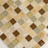 Honey Caramel Onyx Glass Stone Blend 1X1X8MM