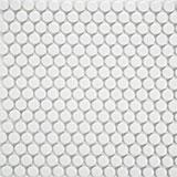 Penny Round Bianco 6mm Matte