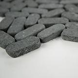 Sliced Pebble Coal Tumbled