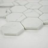 Statuario Celano Hexagon 6mm