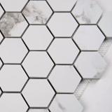 Statuario Matte 2X2 Hexagon Mosaic