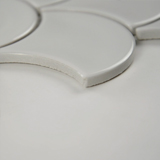 White Glossy Fish Scale Mosaic